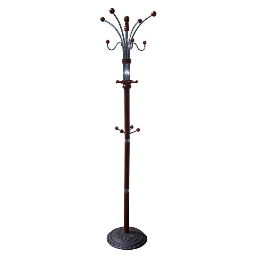 ORE International Cherry 12-Hook Coat Stand