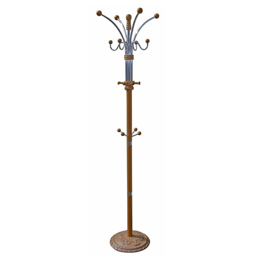 ORE International Oak 12-Hook Coat Stand