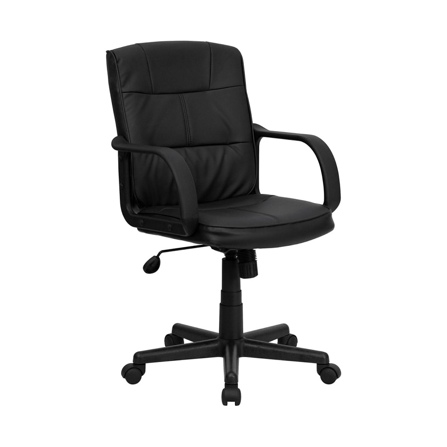 shop flash furniture black faux leather manager office
