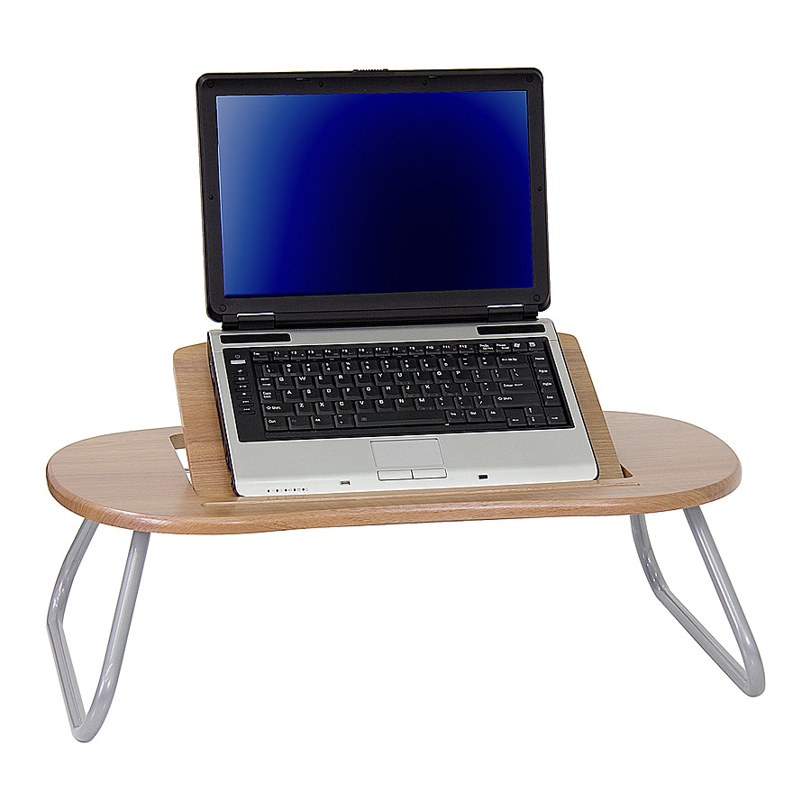 Shop Flash Furniture Dark Natural Pewter Laptop Desk At