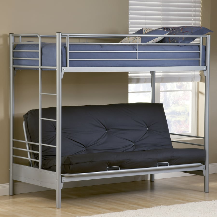 Hillsdale Furniture Universal Silver Twin Over Futon Bunk Bed