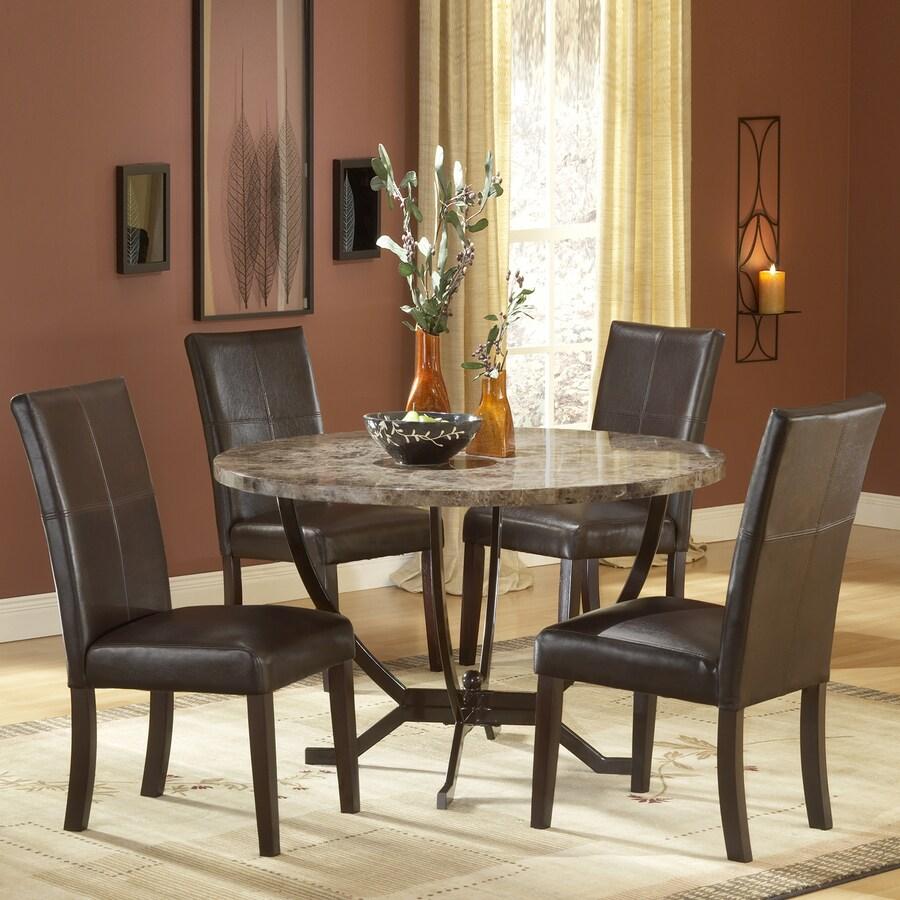 shop hillsdale furniture monaco matte espresso dining set