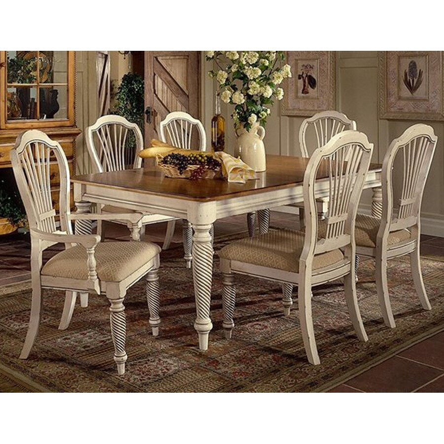 Hillsdale Furniture Wilshire Antique White Dining Set