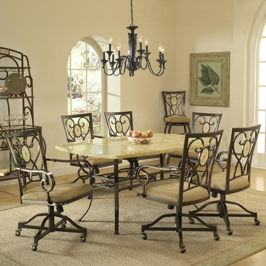 Hillsdale Furniture Brookside Brown Powder Coat Dining Set