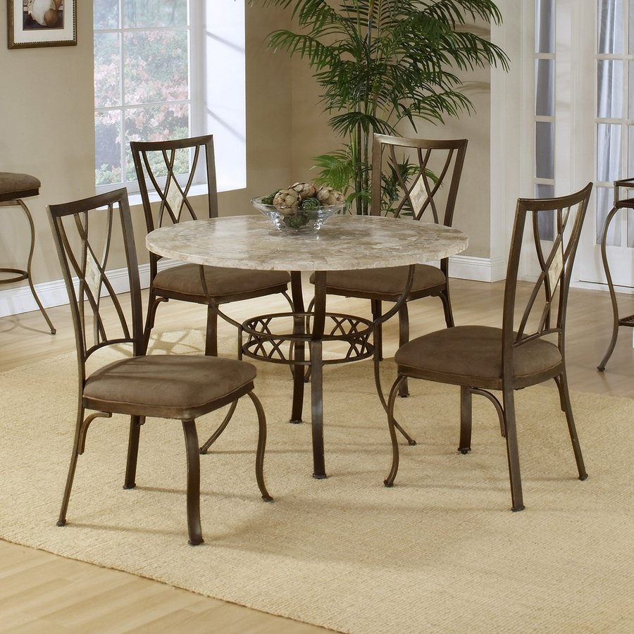 Hillsdale Furniture Brookside Brown Powder Coat Dining Set
