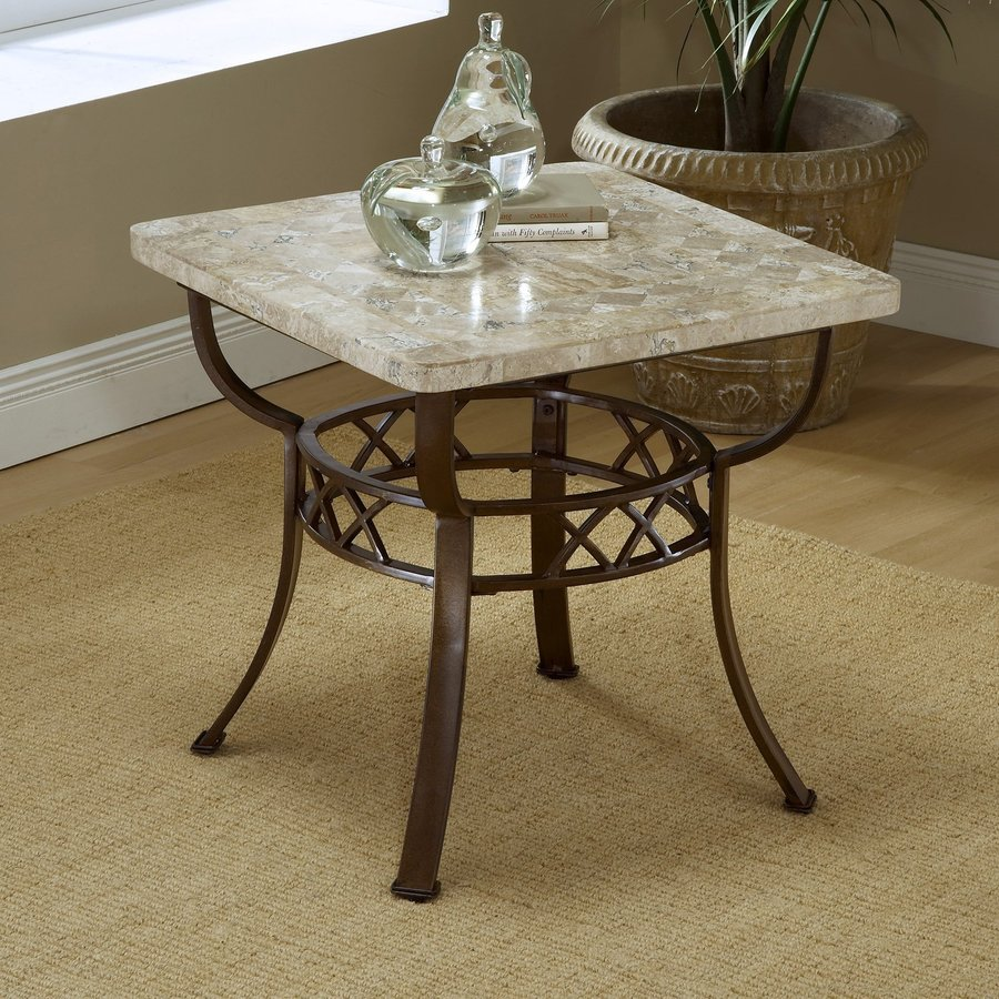 Hillsdale Furniture Brookside Metallic Brown Stone Rectangular End Table