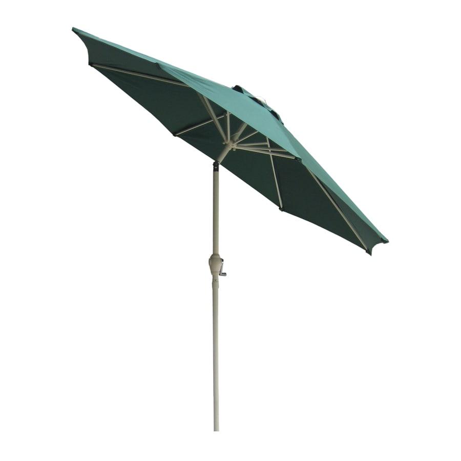 International Concepts Hunter Green Market Patio Umbrella (Common: 9-ft W x 9-ft L; Actual: 8.66-ft W x 8.66-ft L)