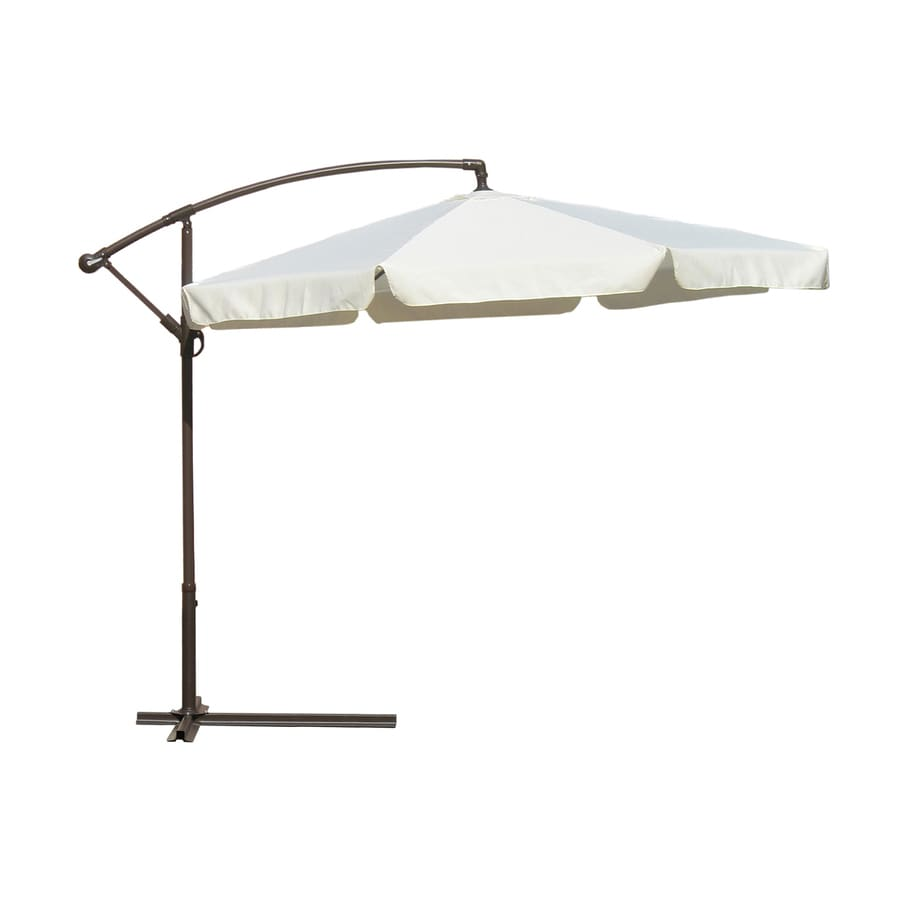 International Concepts Natural Offset Patio Umbrella with Crank (Common: 120-in; Actual: 120-in)