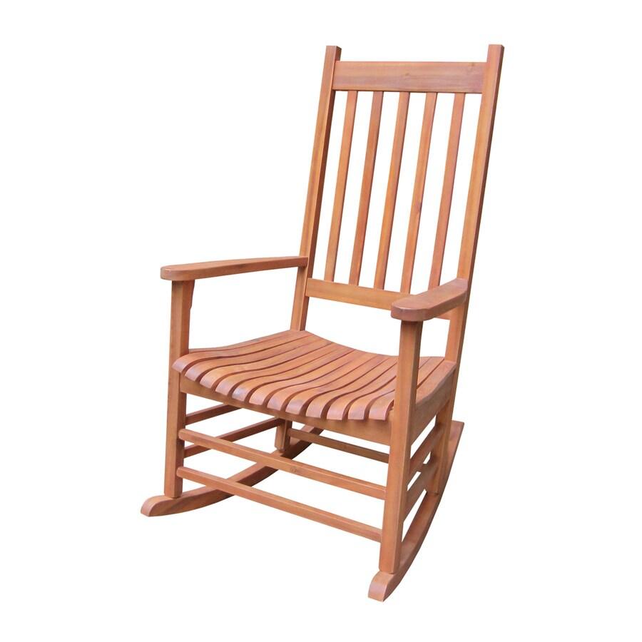 International Concepts Natural Acacia Patio Rocking Chair