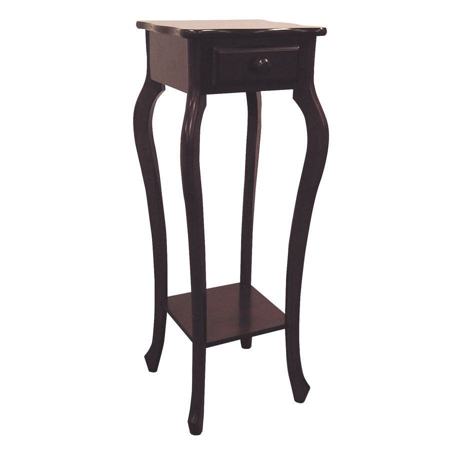 ORE International 32.5-in Rich Cherry Square Wood Plant Stand