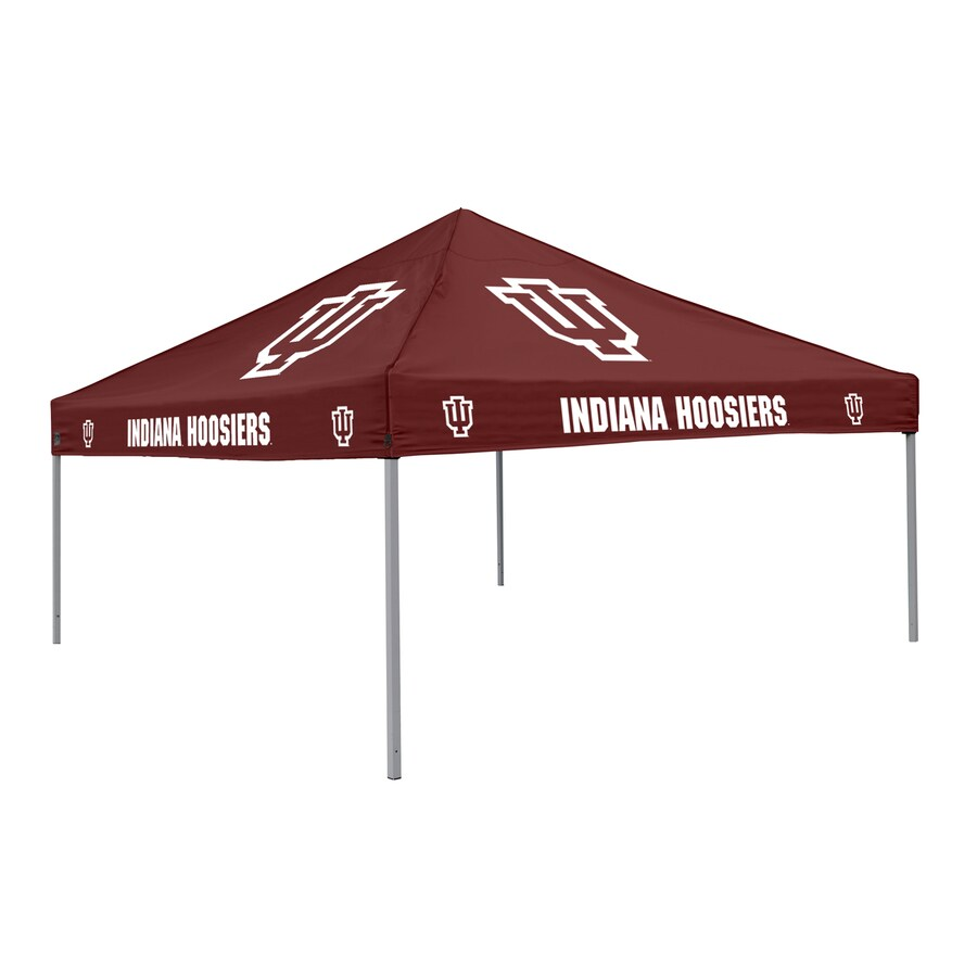 Logo Chairs Tailgating Tent 9-ft W x 9-ft L Square NCAA Indiana University Hoosiers Steel Pop-Up Canopy