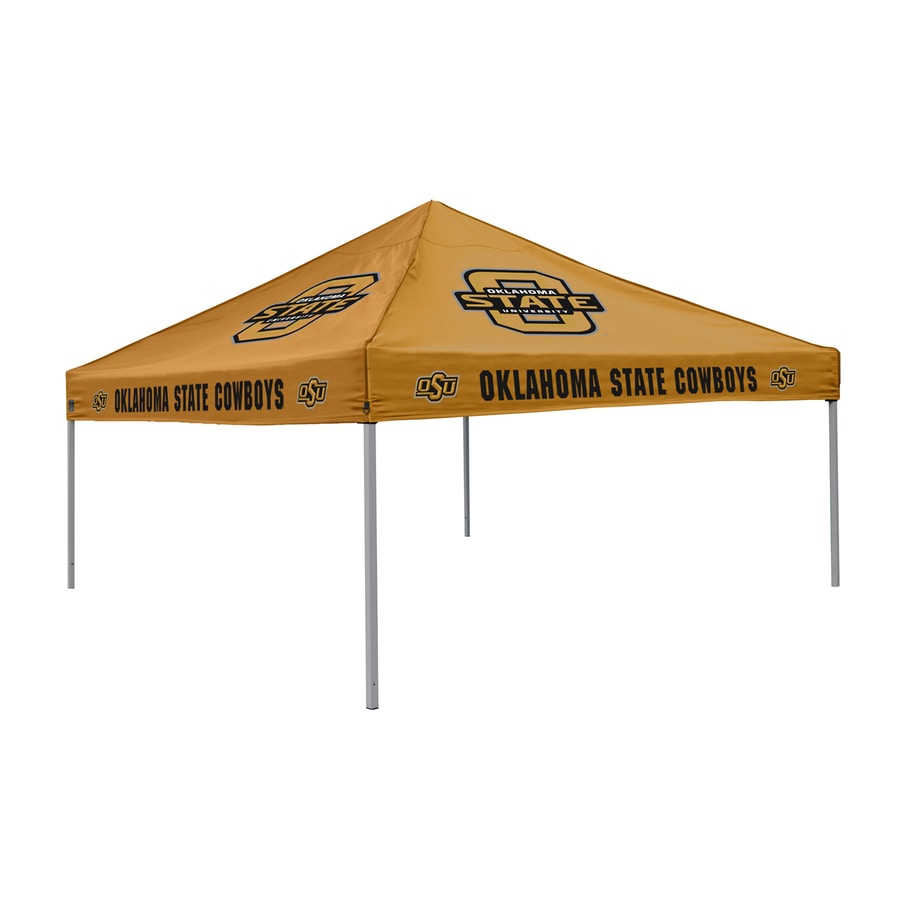 Logo Chairs Tailgating Tent 9-ft W x 9-ft L Square NCAA Oklahoma State Cowboys Steel Pop-Up Canopy