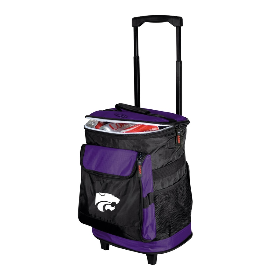 Logo Chairs Kansas State Wildcats Wheeled Polyester Cooler