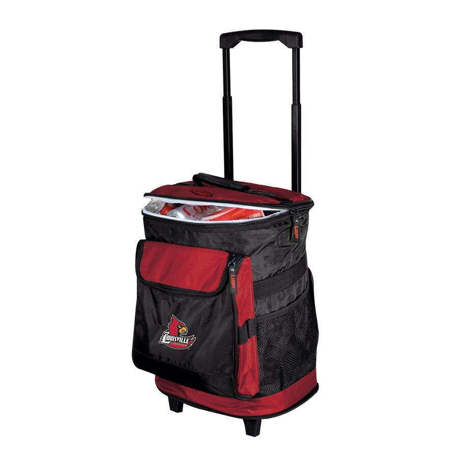 Logo Chairs Louisville Cardinals Wheeled Polyester Cooler