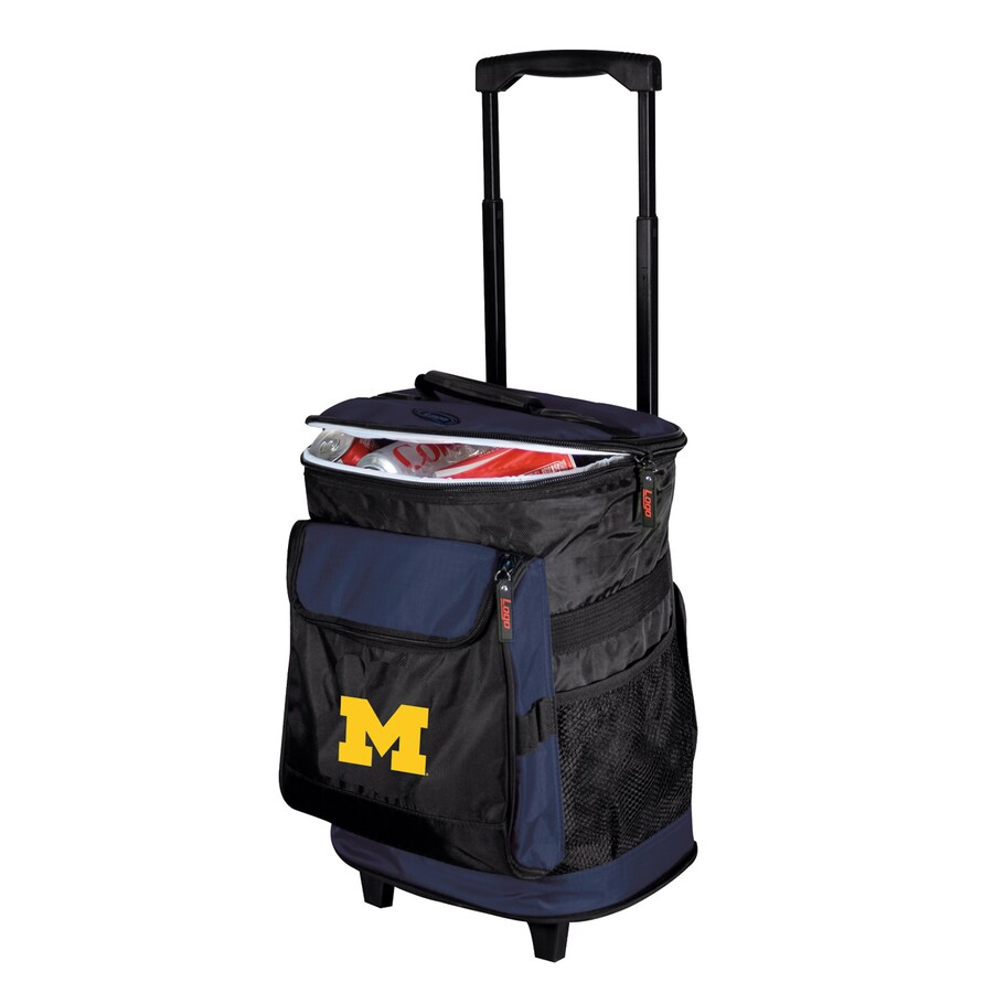 Logo Chairs Michigan Wolverines Wheeled Polyester Cooler