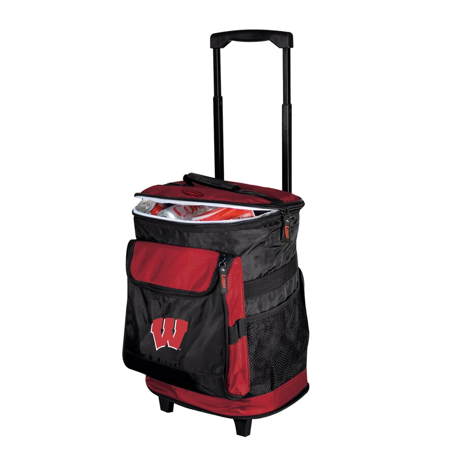 Logo Chairs Wisconsin Badgers Wheeled Polyester Cooler