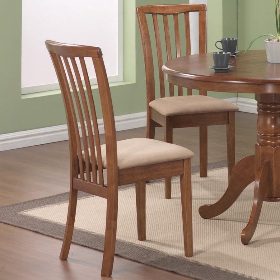 Coaster Fine Furniture Set of 2 Brannan Oak Side Chair