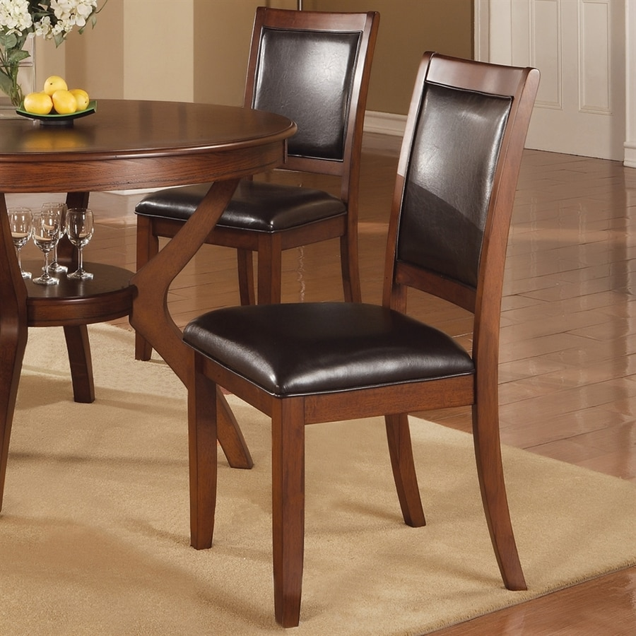 Coaster Fine Furniture Set of 2 Nelms Walnut Side Chair