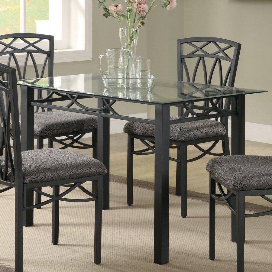 shop coaster fine furniture black rectangular dining table at. Black Bedroom Furniture Sets. Home Design Ideas