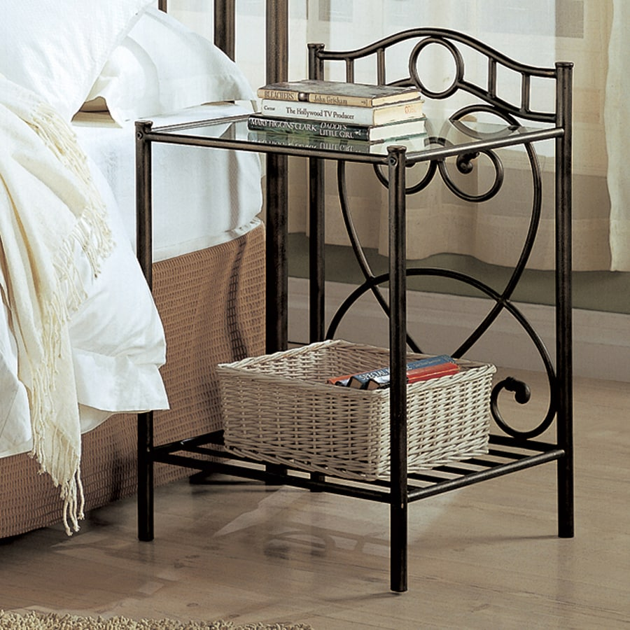 Coaster Fine Furniture Antique Green Metal Nightstand