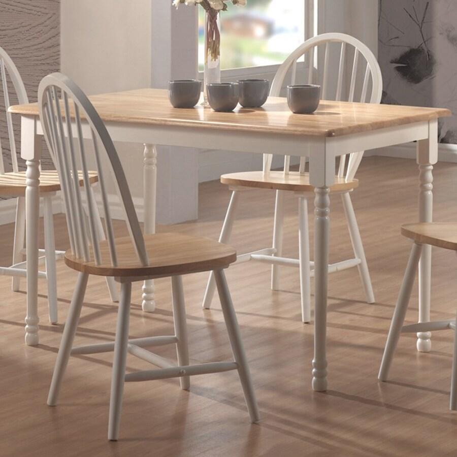 Coaster Fine Furniture Natural/White Rectangular Dining Table