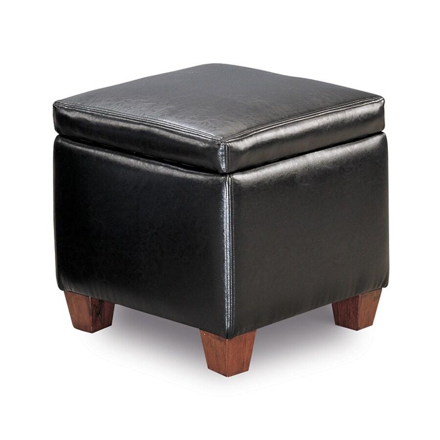 Coaster Fine Furniture Black Square Storage Ottoman