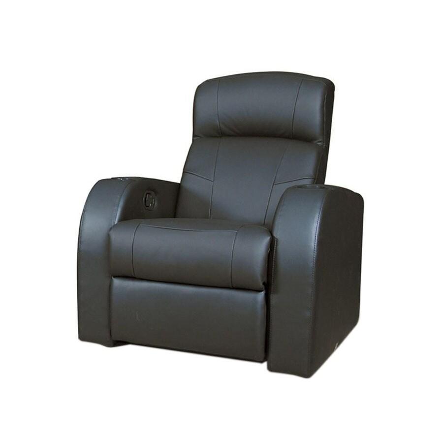Coaster Fine Furniture Cyrus Black Faux Leather Recliner