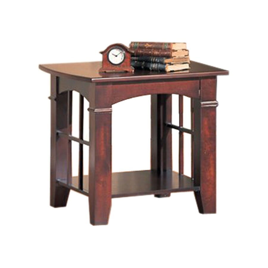 Coaster Fine Furniture Cherry Square End Table