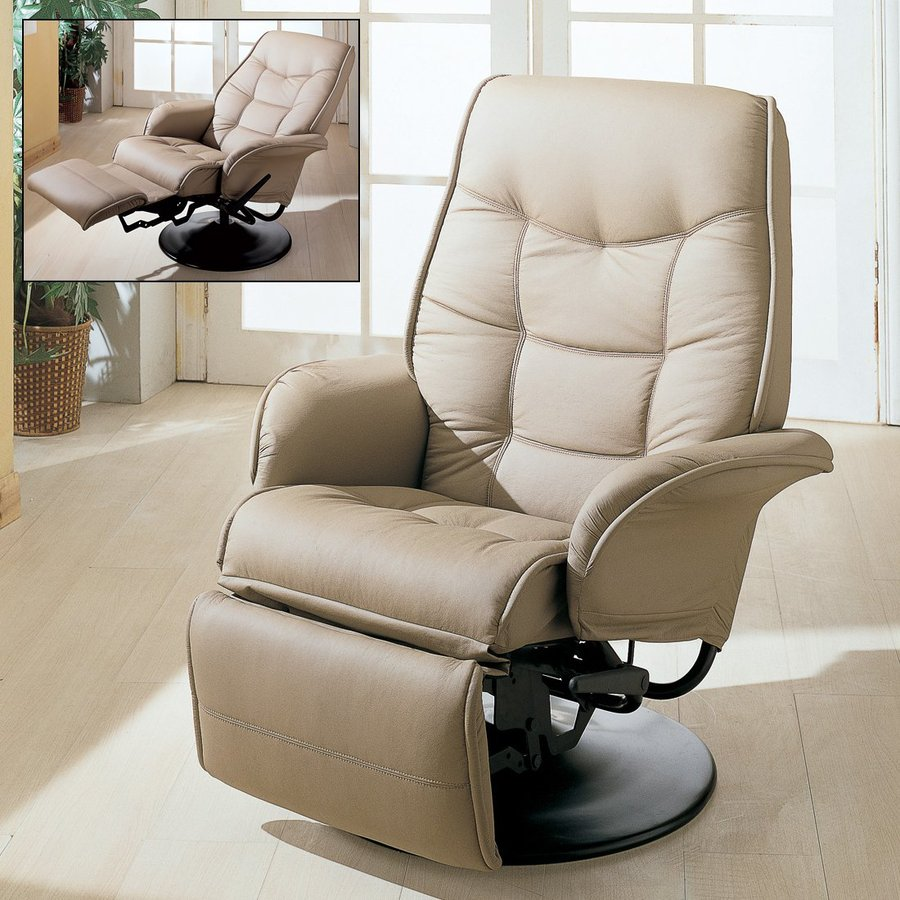 Shop Coaster Fine Furniture Beige Faux Leather Recliner At