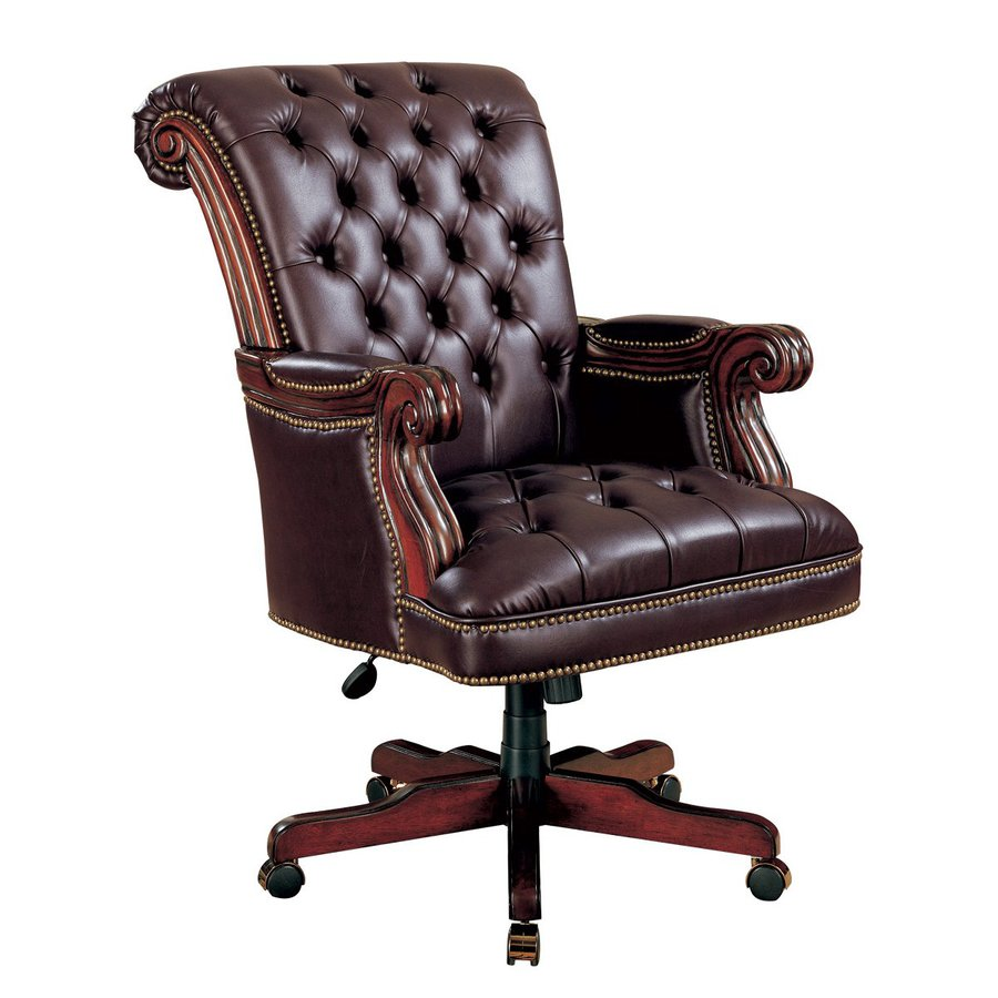 Coaster Fine Furniture Burgundy Vinyl Executive Office Chair