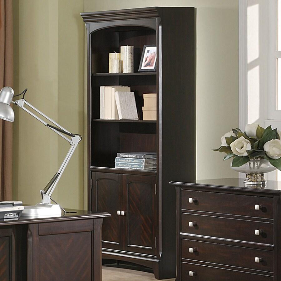 Coaster Fine Furniture Garson Walnut 32.5-in W x 76-in H x 14.5-in D 3-Shelf Bookcase