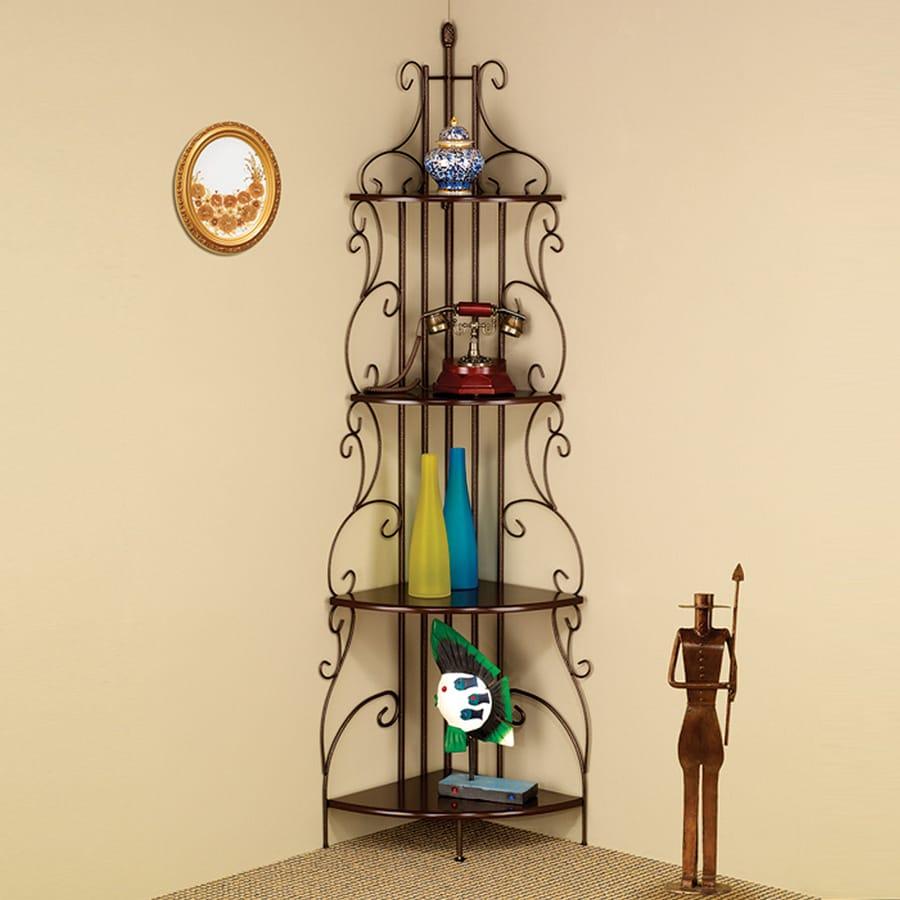Coaster Fine Furniture Copper 23.5-in W x 74.5-in H x 16.5-in D 4-Shelf Bookcase