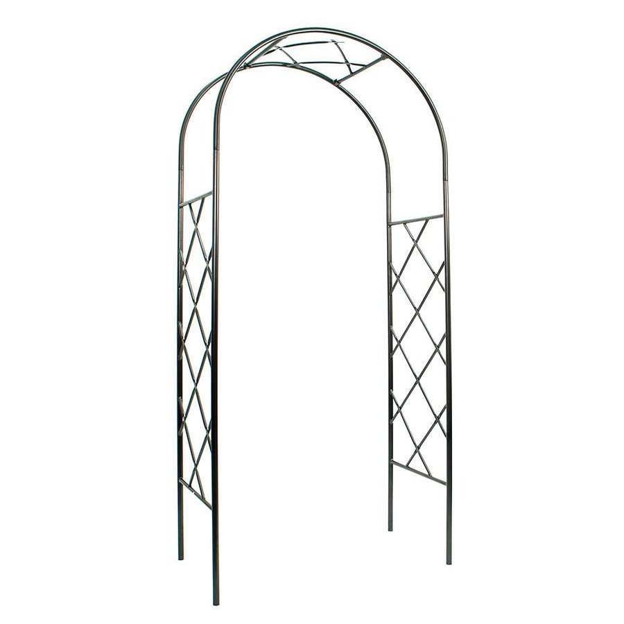 ACHLA Designs Lattice Graphite Garden Arbor