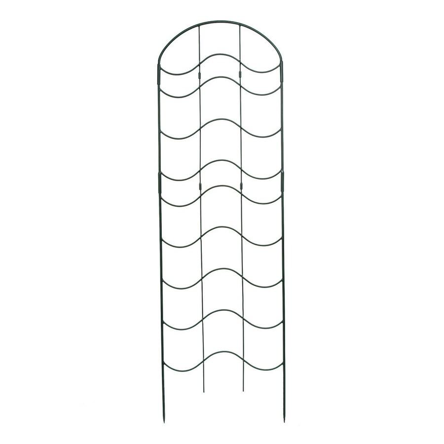ACHLA Designs Waves 23.5-in W x 77-in H Black Garden Trellis