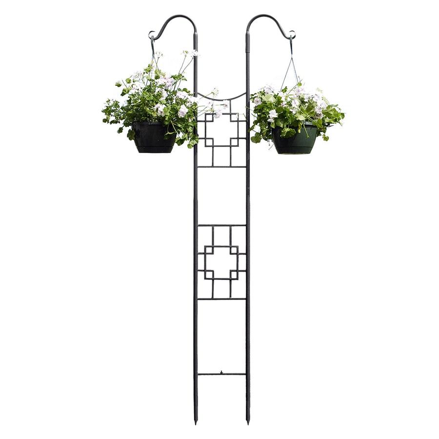 ACHLA Designs Square-On-Squares 31.5-in W x 83-in H Graphite Garden Trellis