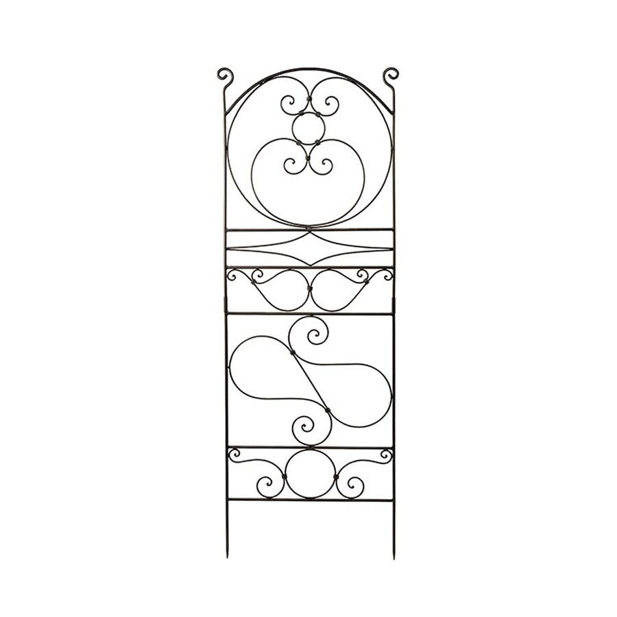 ACHLA Designs Ferro Firenze 29-in W x 83.5-in H Roman Bronze Scroll Garden Trellis