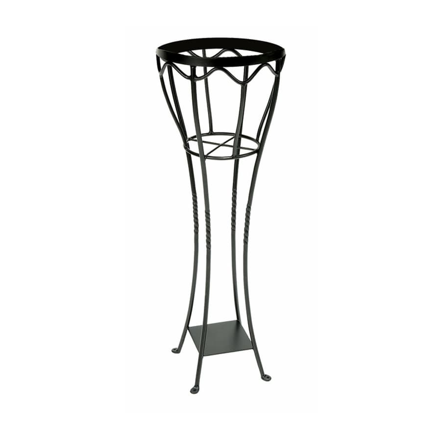 shop achla designs verandah 40 5 in black indoor outdoor round wrought iron plant stand at. Black Bedroom Furniture Sets. Home Design Ideas