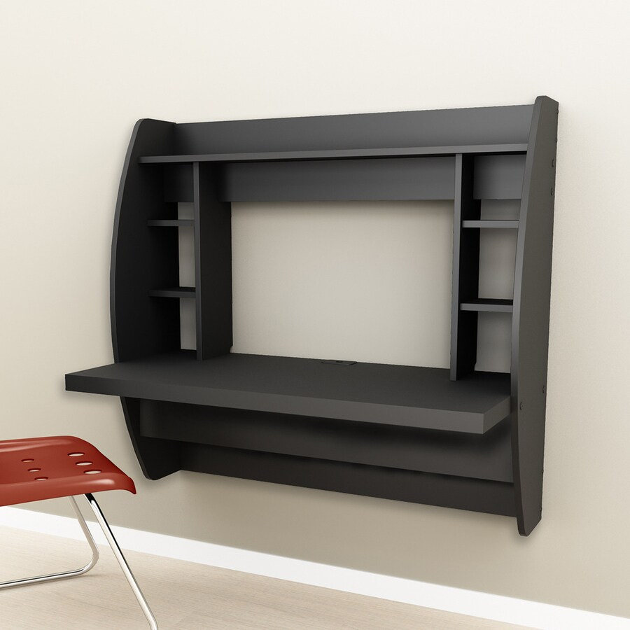 Prepac Furniture Black Wall-Mounted Desk