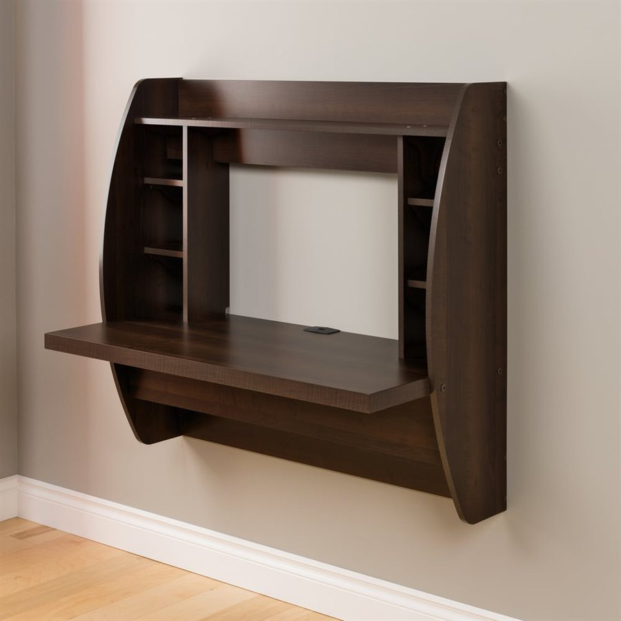 Shop Prepac Furniture Espresso Wall Mounted Desk At