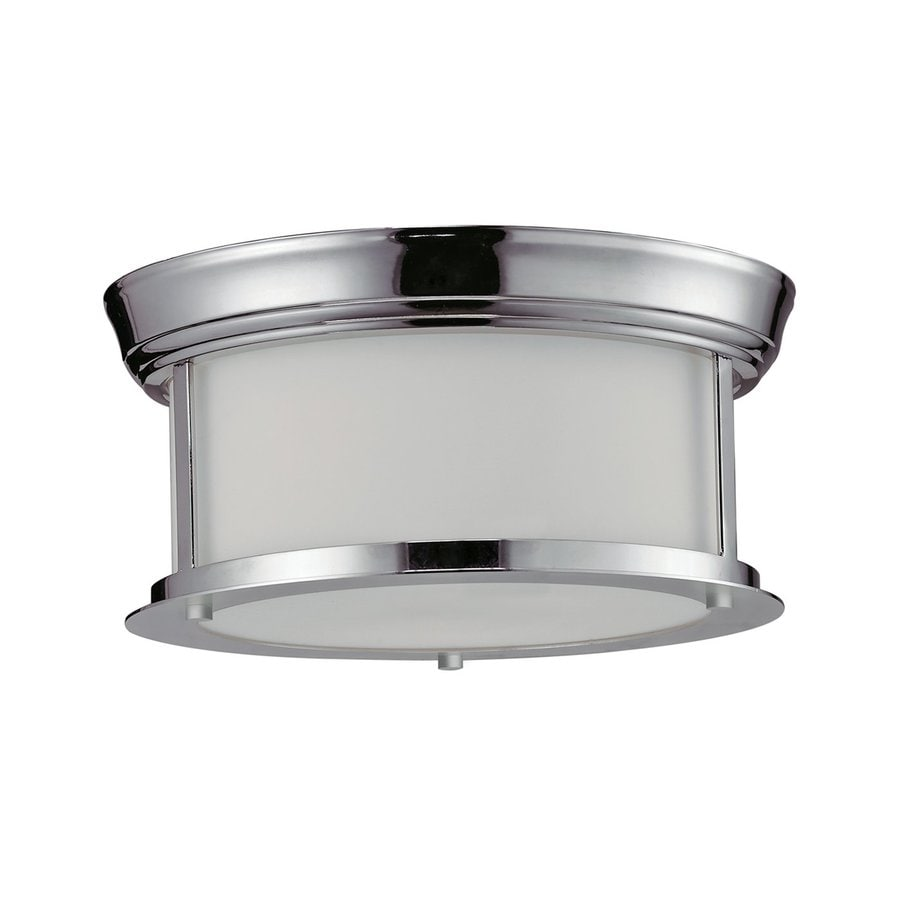 Z-Lite Sonna 10.75-in W Chrome Ceiling Flush Mount Light