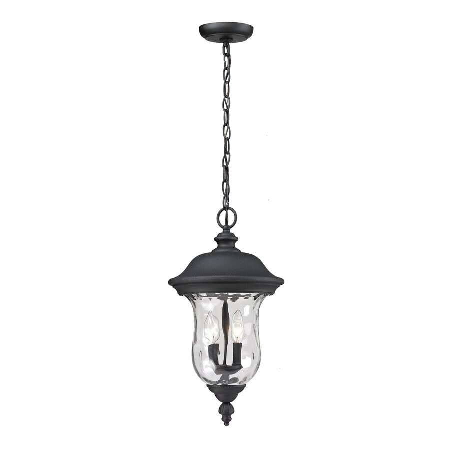 Z-Lite Armstrong 18.818-in Black Hardwired Outdoor Pendant Light