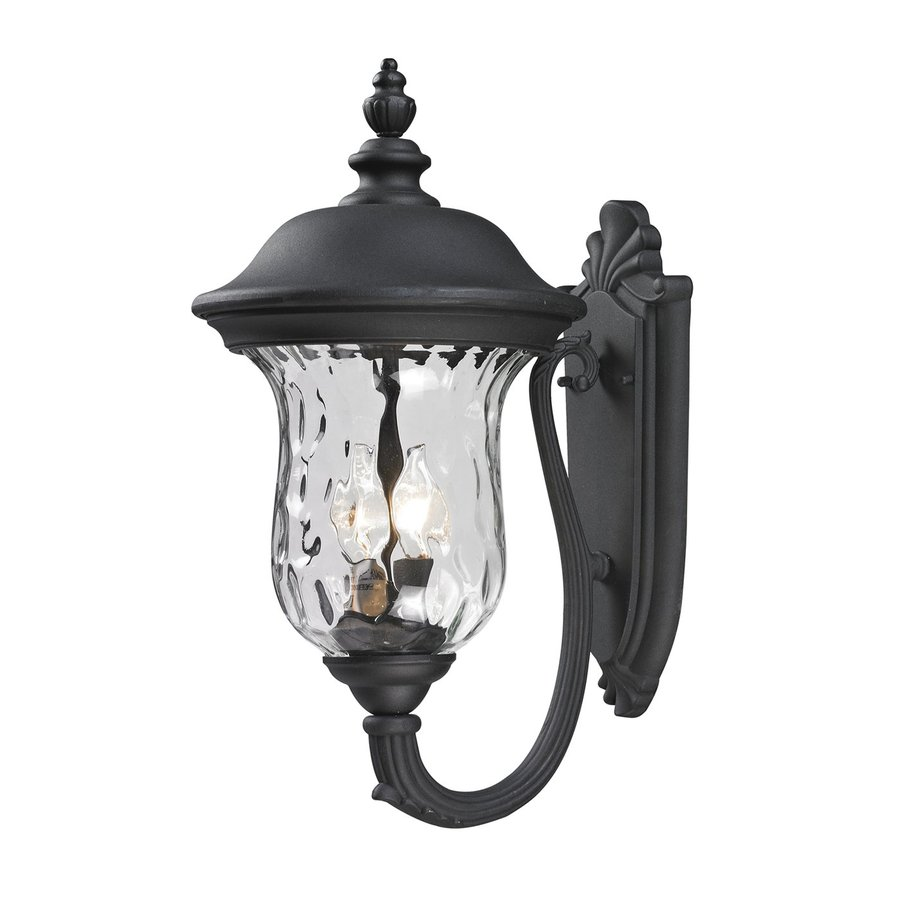 Z-Lite Armstrong 19.488-in H Black Outdoor Wall Light