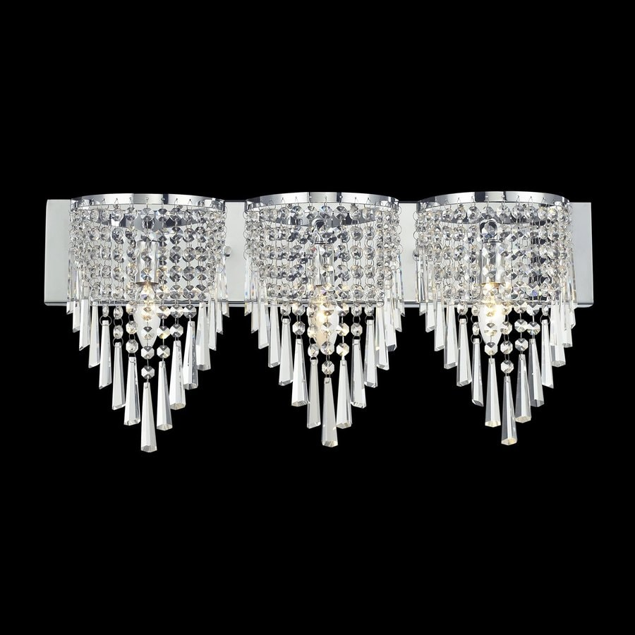 Shop Z-Lite 3-Light Tango Chrome Crystal Bathroom Vanity Light at Lowes.com