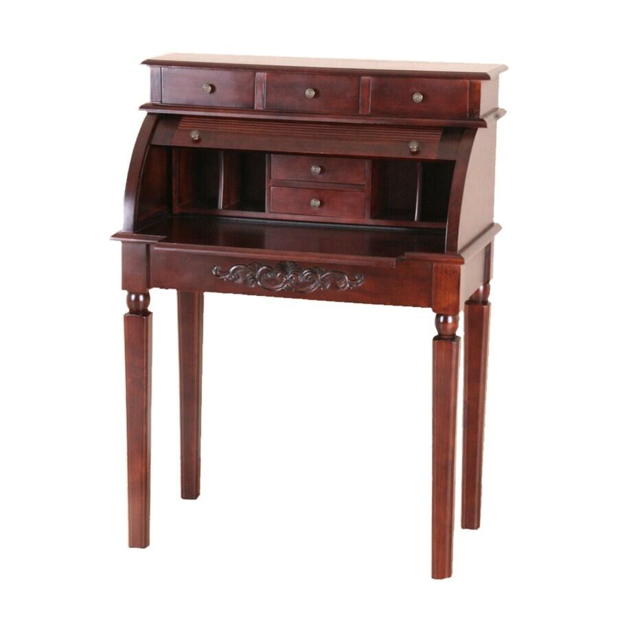 ... International Caravan Carved Wood Stain Secretarial Desk at Lowes.com