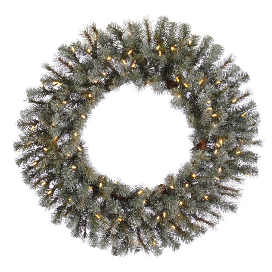 Vickerman 36-in Pre-Lit Artificial Christmas Wreath with White LED Lights