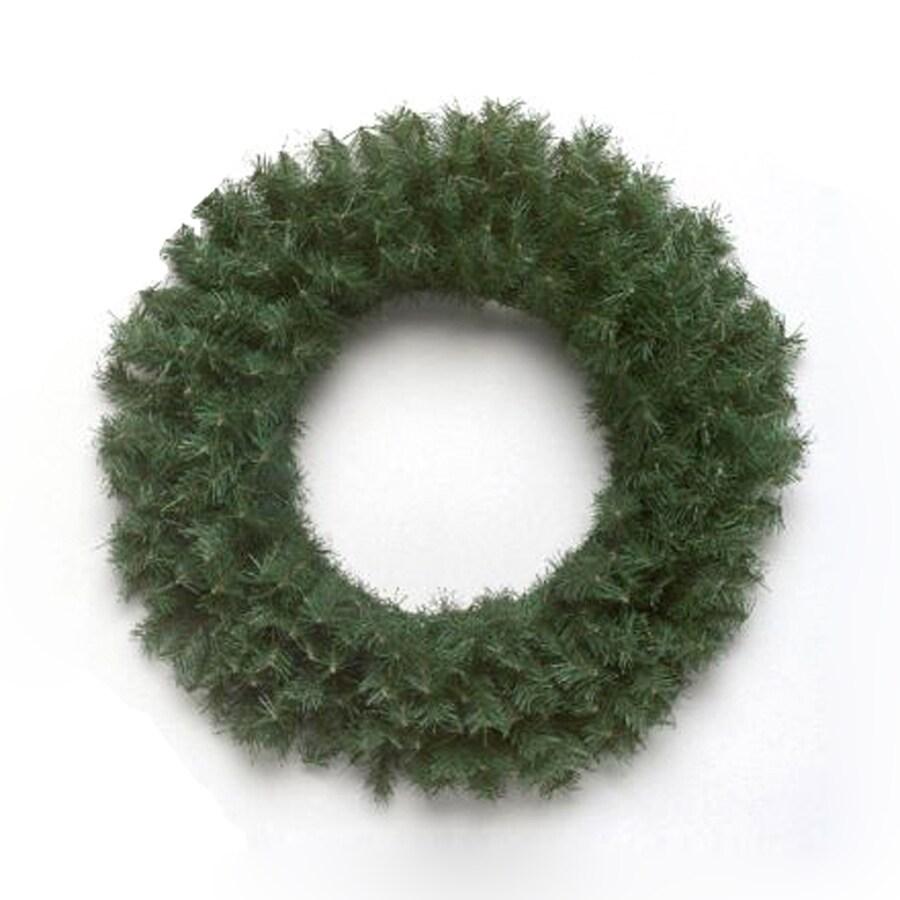 Vickerman 24-in Indoor/Outdoor Canadian Pine Artificial Christmas Wreath