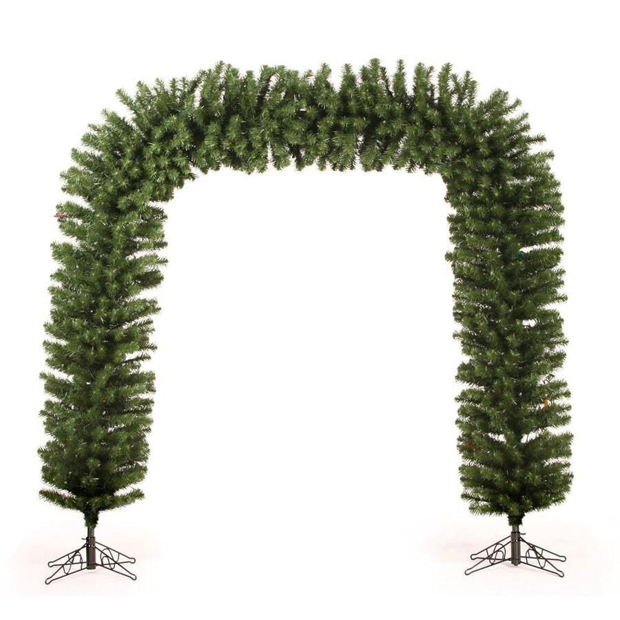 Vickerman Plastic Lighted Freestanding Arch Tree Indoor Christmas Decoration