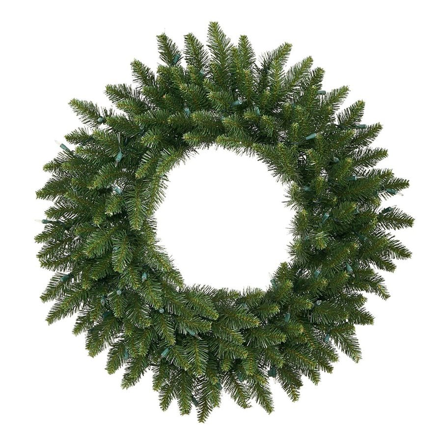 Vickerman 30-in Unlit Camden Fir Artificial Christmas Wreath