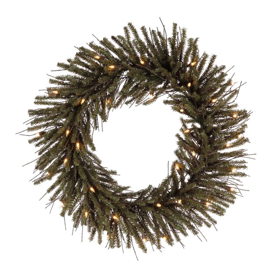 Vickerman 12-in Indoor/Outdoor Twig Artificial Christmas Wreath