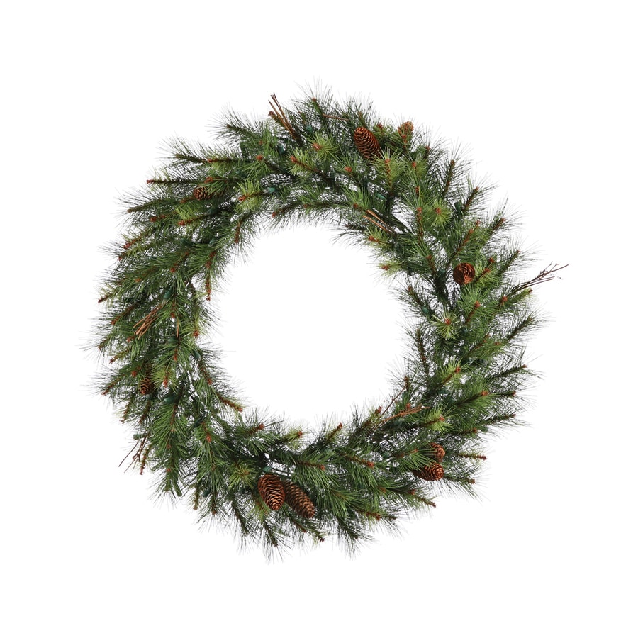 Vickerman 30-in Pine Artificial Christmas Wreath